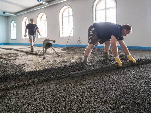 Hotel Hafen Flensburg construction work flooring