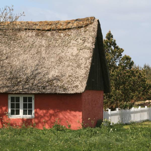 Thatched-roof house on Rømø