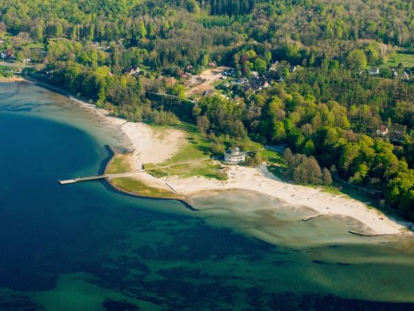 Aerial photograph Solitüde beach